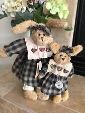 Boyds Bears Lot 2 Amarretto & Daisy #9109/10 1995 12�. 17� Plush Rag Doll��Mwt