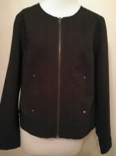 Katies Size 14 Bomber Jacket Black With Zipper RRP $79.95