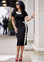 Ashro Black Winter White Formal Dinner Church Danna Dress Size L  XL 1X PLUS