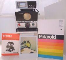 Polaroid Instant Film SX-70 OneStep Sonar Autofocus +User Manual & Flash TESTED