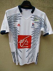 Maillot handball EQUIPE de FRANCE blanc ADIDAS shirt jersey 5 étoiles M