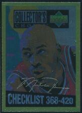 1994-95 UPPER DECK COLLECTOR'S CHOICE MICHAEL JORDAN GOLD SIG CARD #420  NM-MT