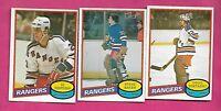 1980-81 OPC RANGERS BAKER RC + SOETAERT RC + HOSPODAR RC  CARD (INV# C3205)