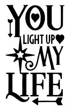 You Light Up Wine Bottle Decal / Sticker (bottle not included)