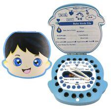 Baby Tooth Box, Wooden Milk Teeth Storage Organizer, Baby Or Toddler Gift Blue