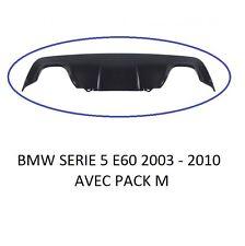 SPOILER / DIFFUSEUR DOUBLE SORTIE DE PARECHOC ARRIERE BMW SERIE 5 E60 E61 PACK M
