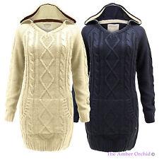 Lange Markenlose Damen-Pullover aus Acryl