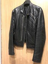 Black Mens Vintage Lether  Jacket. Size L