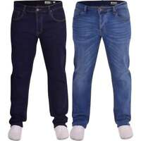 Duck and Cover Mens Original Durable Loose Relaxed Comfort Fit U Denim Jeans