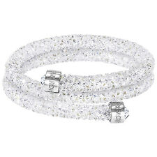 Swarovski Crystaldust White 5255900 Double Bangle Size S RRP$129