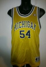 © MICHIGAN Wolverines CHAMPION BASKETBALL JERSEY Tractor Traylor youth M CLG76