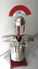 """SET OF 3 LORICA SEGMENTATA HM693 HELMET WITH RED PLUME ROMAN HELMET"""