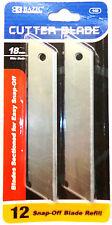 Bazic 12 Snap-off Blade Easy Refill Razor Sharp Box Opener Carton Cutter Knife