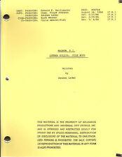 "MAGNUM, P.I. show script ""Luther Gillis: File #001"""