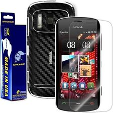 ArmorSuit MilitaryShield Nokia 808 PureView Screen + Black Carbon Fiber Skin!