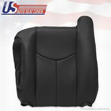 2003 to 2006 Chevy Silverado Driver Top Lean Back Leather Seat cover Dark Gray