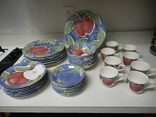 Nikko Appleby Stoneware by Home Plate 39 Piece Dish Set Plates Cups Bowls