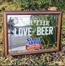 Samuel Adams Boston Lager Beer Bar Pub Man Cave Mirror Sign