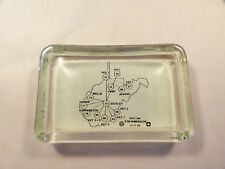 New listing Eastern Associated Coal Mining Glass Paperweight - Wv Advertising Desk Dish