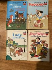 Vintage Walt Disney's 4 Pk Of Books From 1970's Great Condition