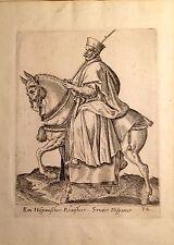 ESPAÑA. Senator hispanus, grabado alemán de Abraham de Bruyn, 1572