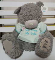 CARTE BLANCHE BLUE TEDDY BEAR PLUSH TOY! SOFT TOY ABOUT 29CM SEATED KIDS TOY!