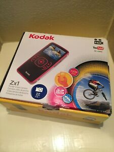 Kodak Zx1 Pocket Video Camera HD 720p You Tube PC•MAC / Blue