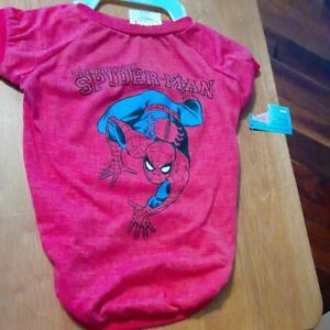 Marvel Comics The Amazing Spiderman Dog T-Shirt Large - NEW with Tags