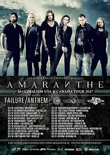 "Amaranthe ""Maximalism Usa & Canada Tour 2017"" Concert Poster - Power Metal Music"