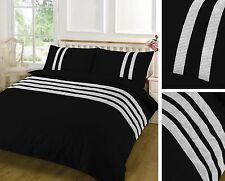 Duvet Cover Set Egyptian Cotton Sequins Lace plain Double Single Super King New