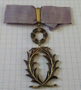 Medaille Commandeur des palmes académiques monnaie de Paris corne1corne