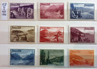 URSS CCCP RUSSIA 1959 PAESAGGI SERIE COMPLETA - 9 STAMPS NEW**