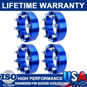 4Pc 2'' 8 Lug Wheel Spacers Adapters 8x6.5 For Chevy Silverado C/K 2500/3500 GMC