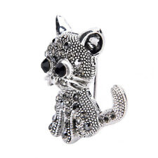 Cute Little Cat Brooches Pin Antique Silver Plated Coat Shirt Clips Fashion Pop.