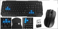 NEW 2.4Ghz Wireless Gaming Keyboard And Optical Mouse Set Combo GAMER
