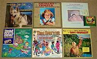 KIDS LPs:RinTinTin/ShirleyTemple//PeterRabbit/BabarCD/ReadN'Hear/Sawyer/Crockett