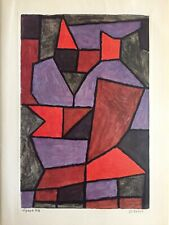 "PAUL KLEE RARE VTG 1960 1ST EDITION MODERNIST LITHOGRAPH PRINT "" DOUBLE "" 1940"
