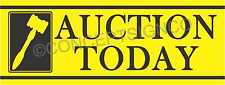 4'X10' AUCTION TODAY BANNER Outdoor Sign XL Auto Storage Agriculture Equipment