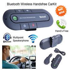 Bluetooth Wireless Speaker Phone Microphone Slim Magnetic Hands Free In Car Kit
