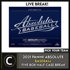 2021 Caja de béisbol 5 PANINI ABSOLUTE (mitad Case) romper #A1138 - Elige Tu Equipo