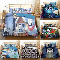 Undertale Sans Bedding Set 3PCS Duvet Cover Pillowcases Comforter Cover US Size