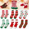 Women Lady Winter Warm Cute Santa Coral Fleece Xmas Thicken Fluffy Floor Socks