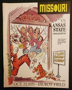 Missouri Tigers Kansas State Football Program 10/25 1975 Amadee Wohlschlaeger