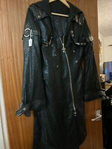 Leather Punk Rave Coat Frok Gothic Military Size M
