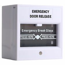 Wired Security Switch Break Glass For Fire Alarm Emergency Exit Release Button