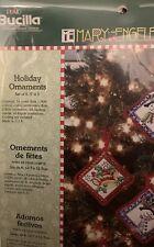 Bucilla Mary Engelbreit Cross Stitch Good Tidings Christmas Ornaments Kit 85013