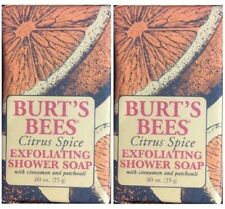 2 BURT'S BEES CITRUS SPICE EXFOLIATING BAR SOAP TRAVEL SIZE FREE SHIPPING US HTF