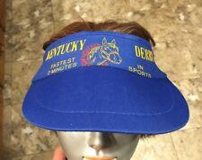 "Vintage Kentucky Derby Sun Visor Hat Cap ""Fastest 2 Minutes in Sports"""