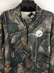 Men's PITTSBURGH STEELERS  Majestic Military  CAMOUFLAGE Pullover Jacket Med.