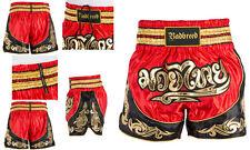 RED PYTON PANTALONCINO BAD BREED MUAY THAI BOXE SATIN SHORTS MMA VALETUDO BOXING